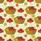 Seamless Pattern, Baskets and Tomatoes - GraphicRiver Item for Sale