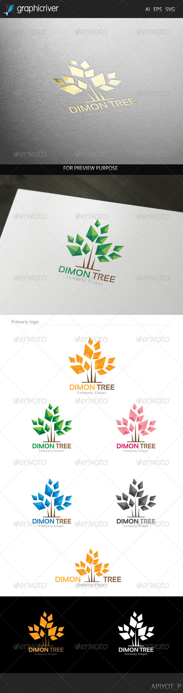 GraphicRiver Dimon Tree Logo 8228934