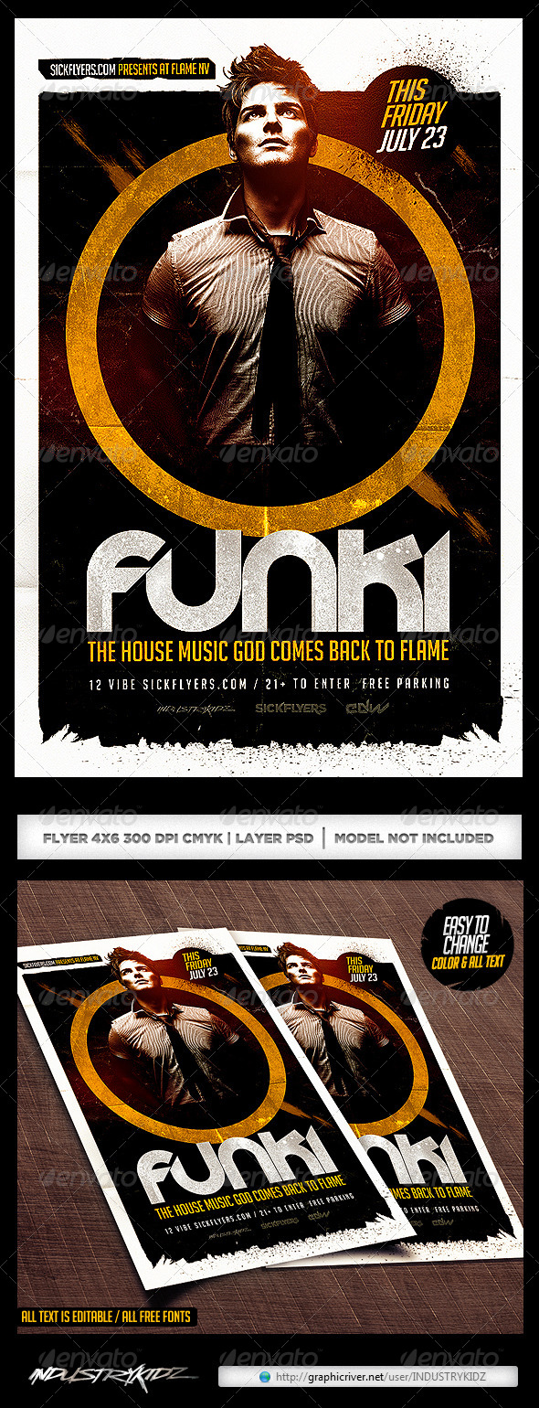GraphicRiver DJ Flyer Template PSD 8228936