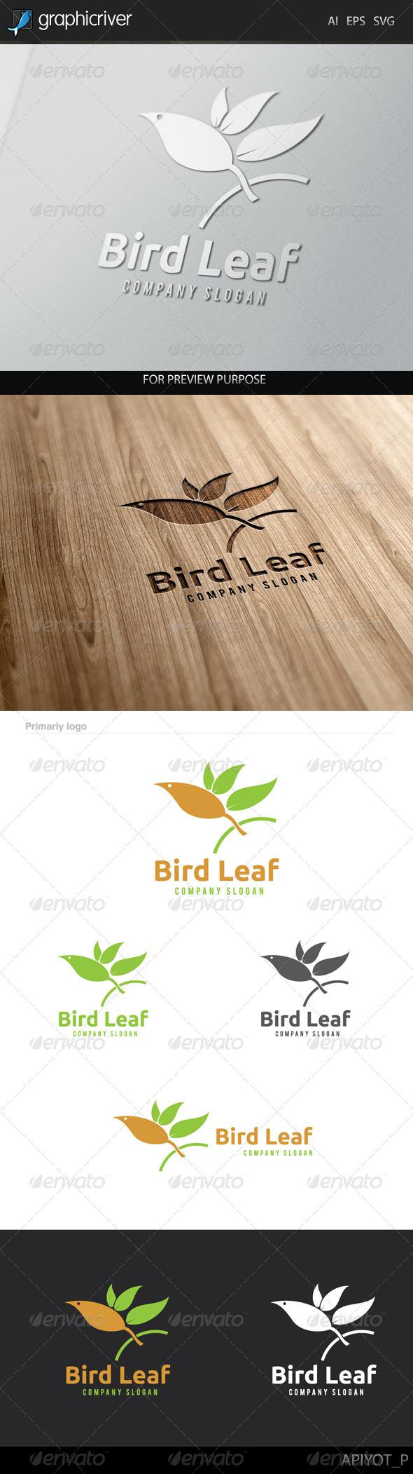 GraphicRiver Bird Leaf Logo 8229066