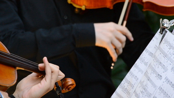 VideoHive Violins on a Concert Playing 8229101