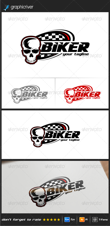 GraphicRiver Biker Logo Templates 8229469