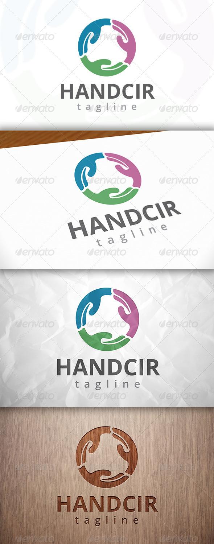 GraphicRiver Hand Circle Logo 8229770