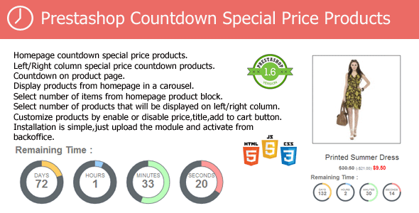 CodeCanyon Prestashop Countdown Special Price Products Module 8057694