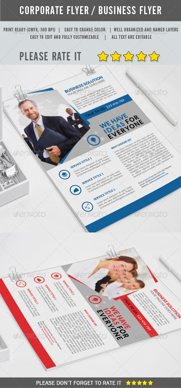 GraphicRiver Corporate Flyer 8229928