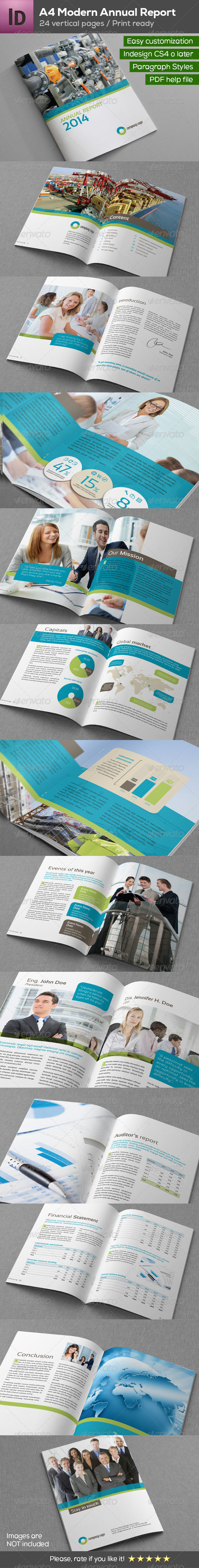 GraphicRiver A4 Annual Report Brochure 24 pages 8186978