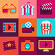 Vector Flat Cinema Icons - GraphicRiver Item for Sale