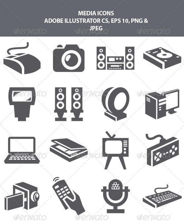 GraphicRiver Media Icons 8229957