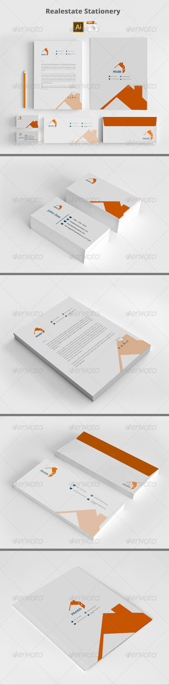 GraphicRiver Realestate Stationery Templates 8207533