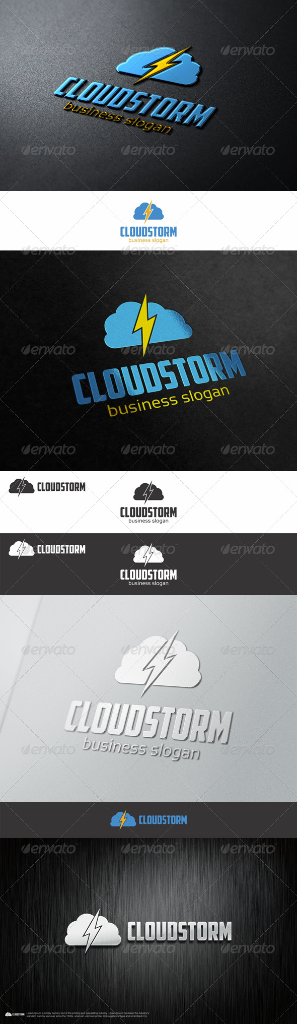 GraphicRiver Cloud Storm Thunder Logo 8230065