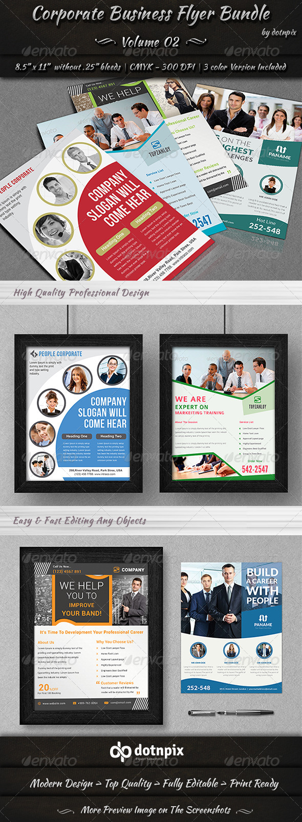 GraphicRiver Corporate Business Flyer Bundle Volume 2 8230072