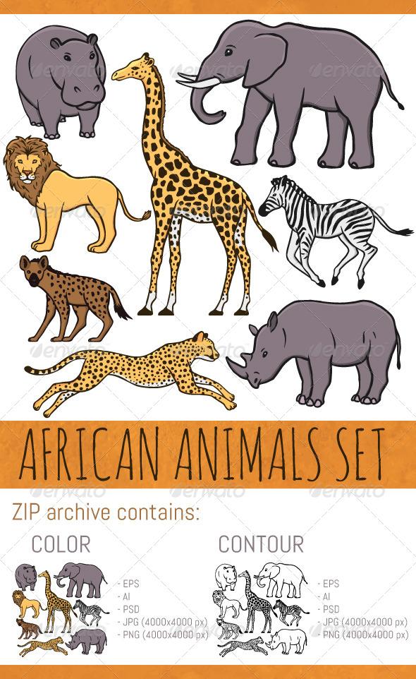 GraphicRiver African Animals Set 8230092