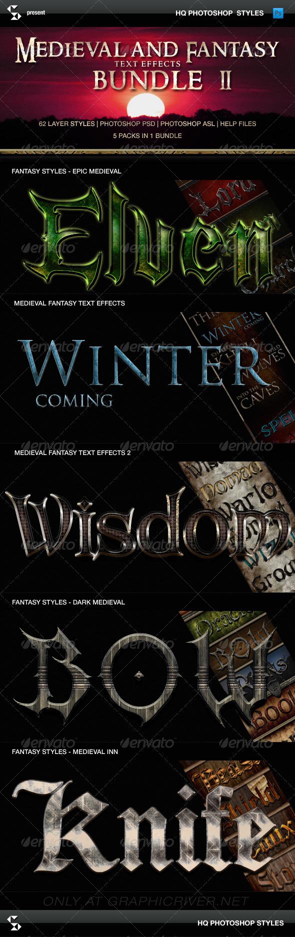 GraphicRiver Fantasy Styles Bundle Medieval Collection 8230130