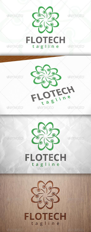 GraphicRiver Tech Flower Logo 8230186