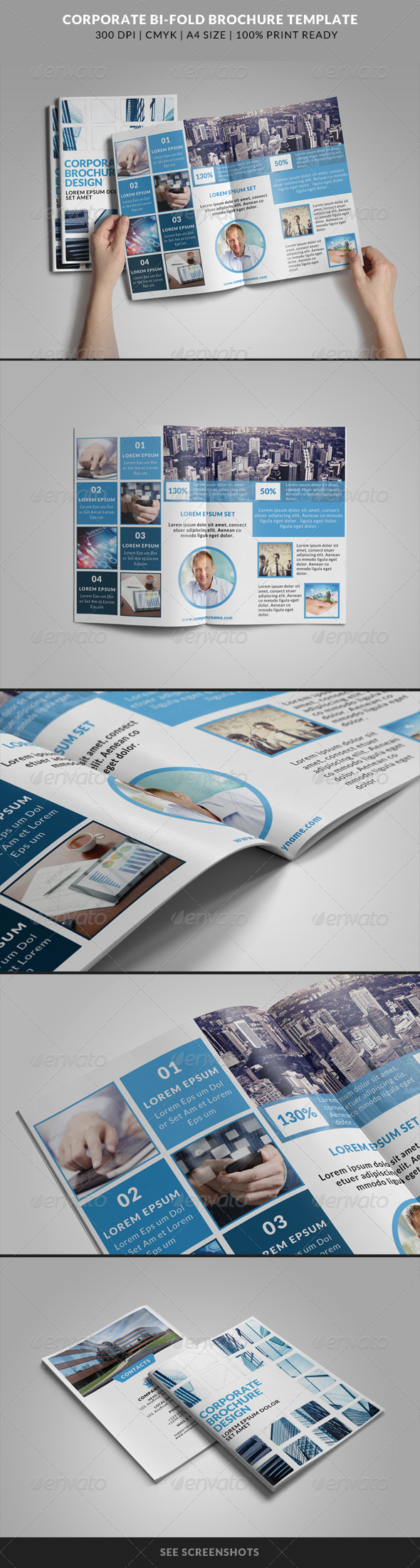 GraphicRiver Corporate Bi-Fold Brochures Template 6 8230195