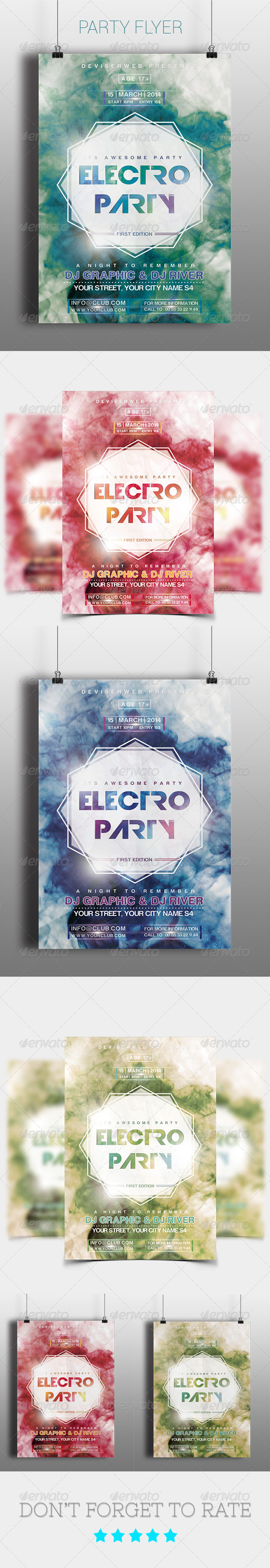 Futuristic Electro Party Flyer Templates