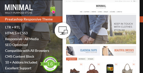 Minimal Multi Purpose - Prestashop Theme - PrestaShop eCommerce