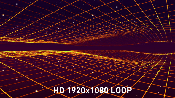 Smooth Perspective Grid Waves
