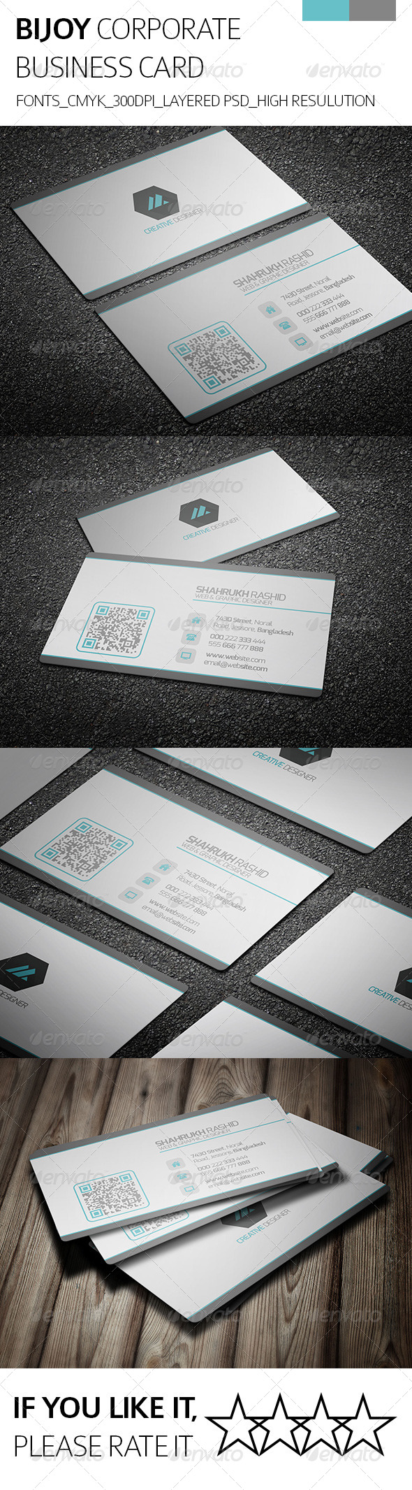 GraphicRiver Bijoy & Corporate Business Card 8230333