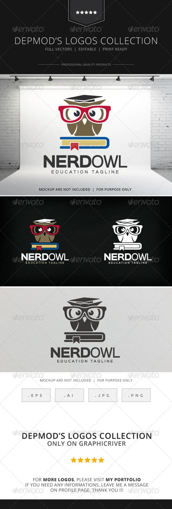 GraphicRiver Nerd Owl Logo 8218530