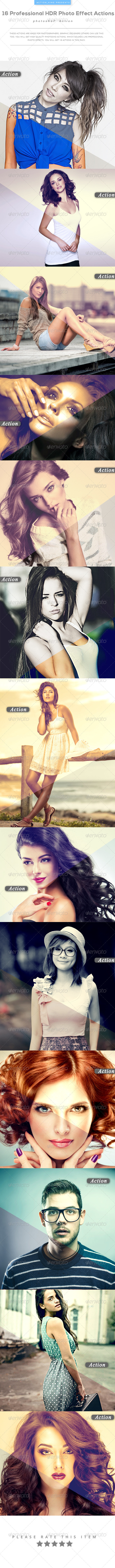 GraphicRiver 16 Professional HDR Photo Effect Actions 8230345