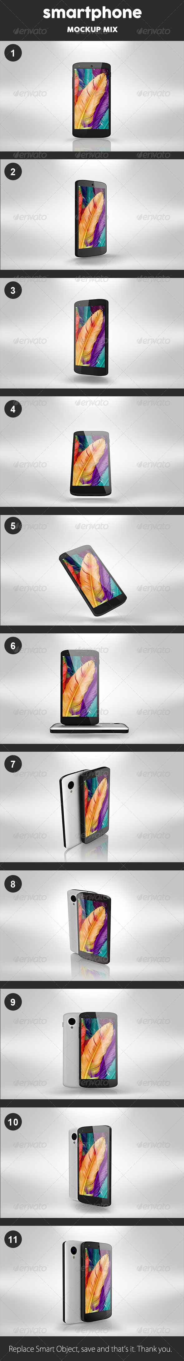 GraphicRiver Smartphone Mockups 8218653