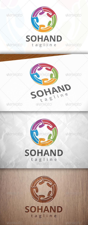 GraphicRiver Social Hand Logo 8230360