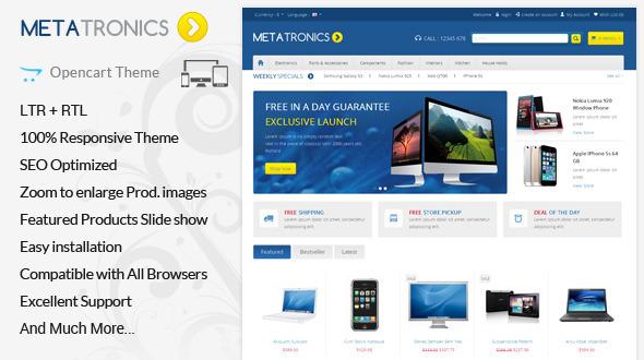 Meta Tronics - Opencart Responsive Theme - OpenCart eCommerce