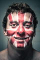 Happy man with British flag on face - PhotoDune Item for Sale