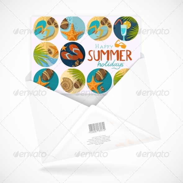 GraphicRiver Postal Envelopes With Greeting Card 8230485