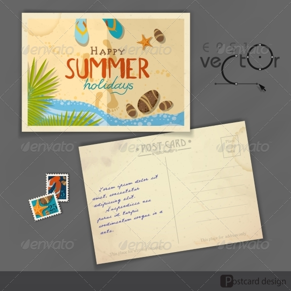 GraphicRiver Old Postcard Design Template 8230488