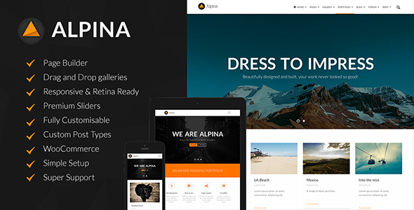 ThemeForest Alpina Creative Multi-Purpose WordPress Theme 7859681