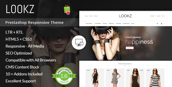 Lookz - Prestashop Parallax Template - Fashion PrestaShop