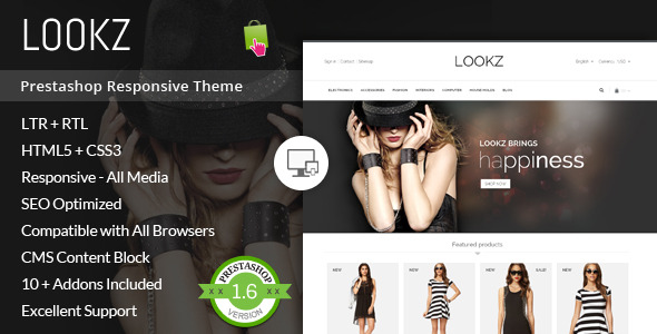 Lookz - Prestashop Parallax Template