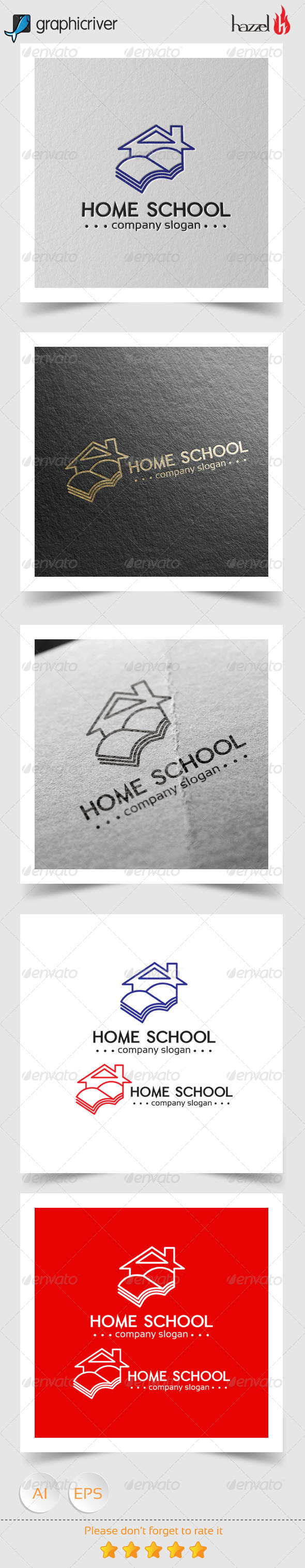 GraphicRiver Home School Logo 8230501