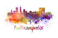 Indianapolis skyline in watercolor - PhotoDune Item for Sale