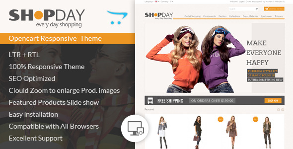 Shopday - Opencart Responsive Theme