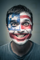 Funny man with US flag painted on face - PhotoDune Item for Sale