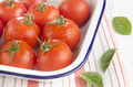 freshly washed tomatoes in an enamel bowl - PhotoDune Item for Sale