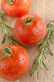 wet organic tomato with rosemary - PhotoDune Item for Sale