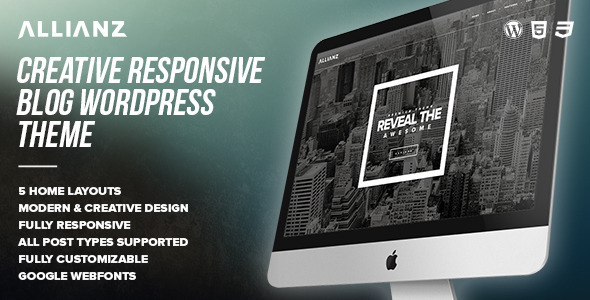 ThemeForest Allianz Modern Responsive WordPress Blog Theme 8230913