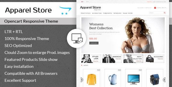 Apparel - Clothes Opencart Theme - Fashion OpenCart