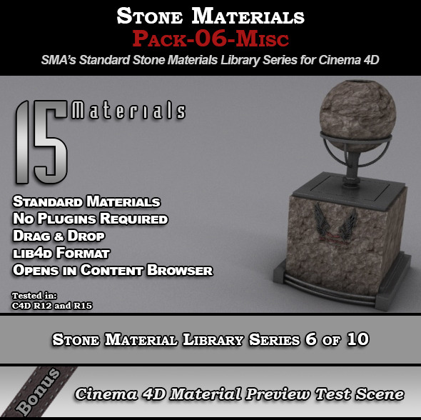 3DOcean Standard Stone Material Pack-06-Misc for Cinema 4D 8230969