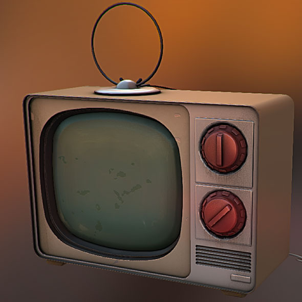 Stylized 50's TV - 3DOcean Item for Sale