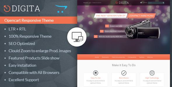 Digita - Opencart Multipurpose Theme Download