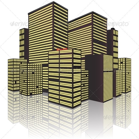 GraphicRiver Isolated on White Background City 8231040