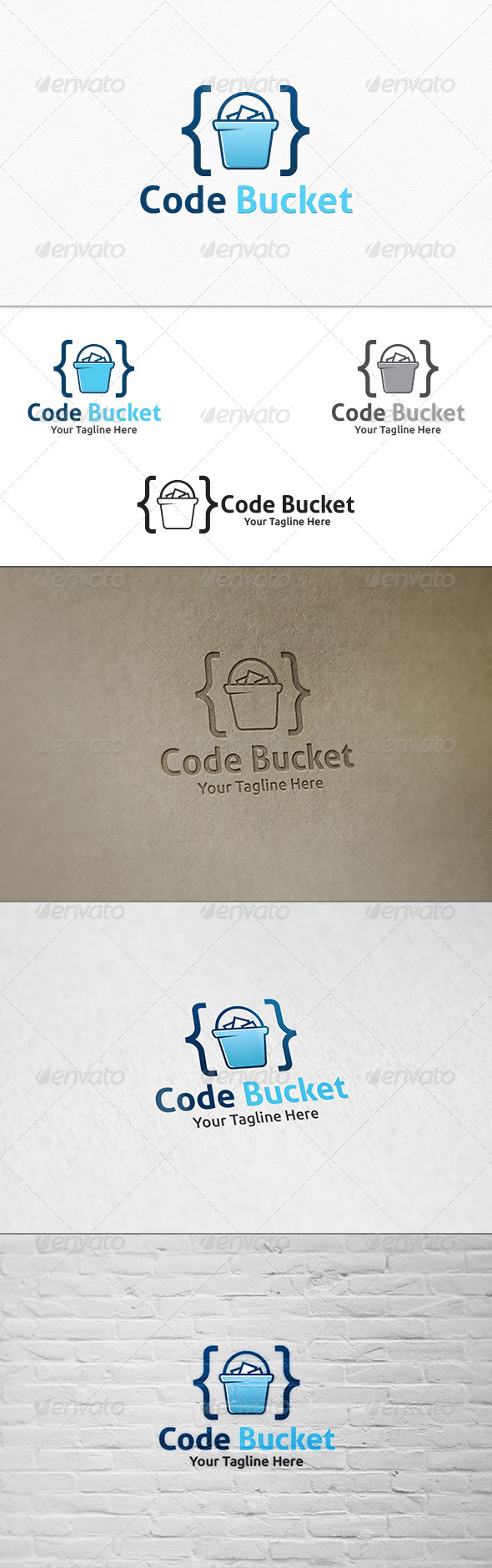 GraphicRiver Code Bucket Logo Template 8231129