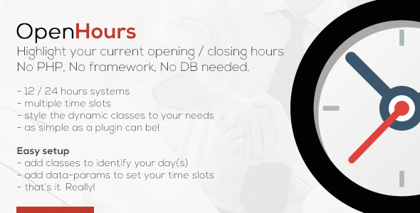 CodeCanyon OpenHours Highlight your opening closing hours 8231178