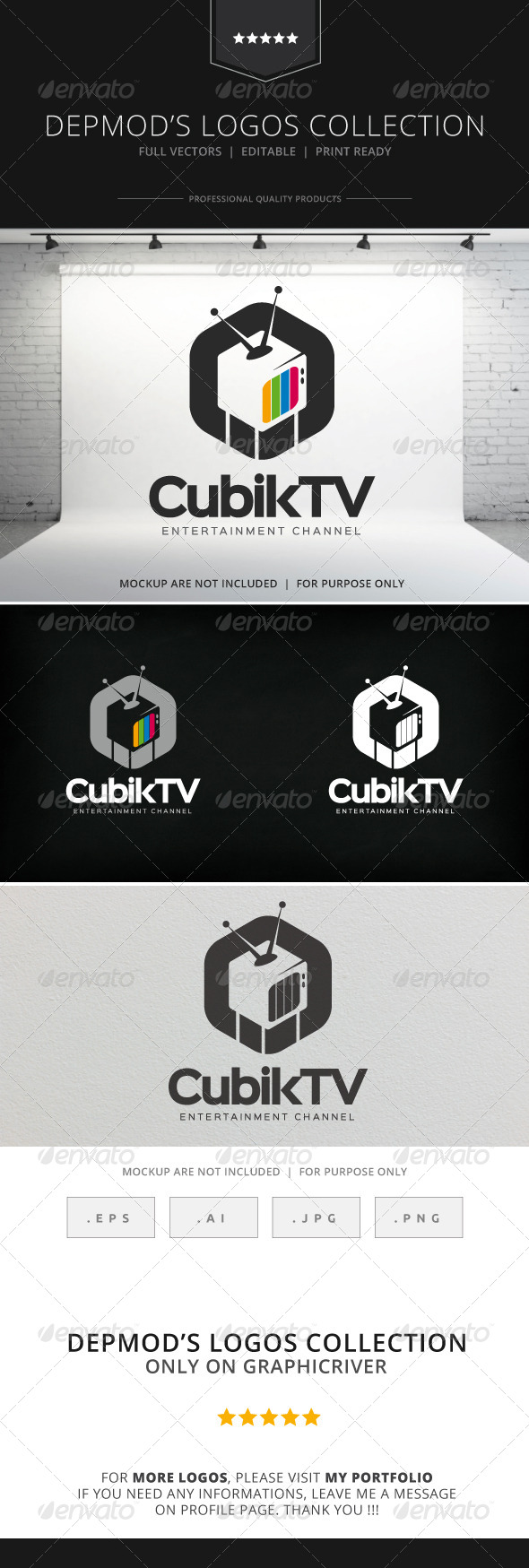 GraphicRiver Cubik TV Logo 8231364