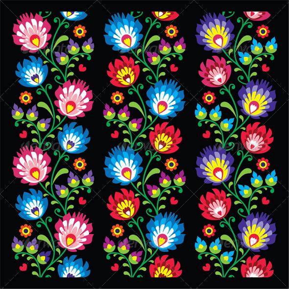 GraphicRiver Seamless Long Polish Folk Art Pattern 8231431